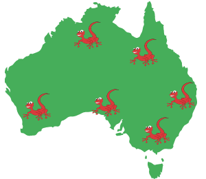 australia map gecko