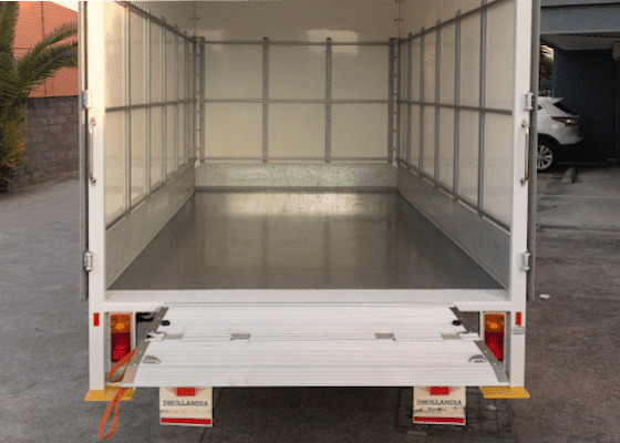 rear storage view truck