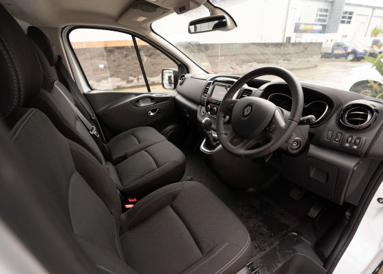1t van hire interior